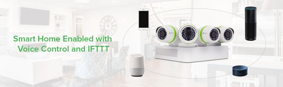 Ezviz 720p Home Security Surveillance System With 4