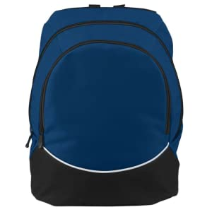 Augusta Sportswear Large Tri-Color Backpack Sports Travel Luggage