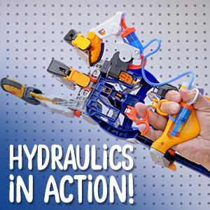 hydraulics, pneumatics, infinity gauntlet, cyborg, exoskeleton, diy, build, experiment