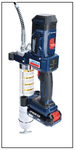 Lincoln, 1886, PowerLuber, 20V, battery operated grease gun, cordless grease gun, battery grease gun