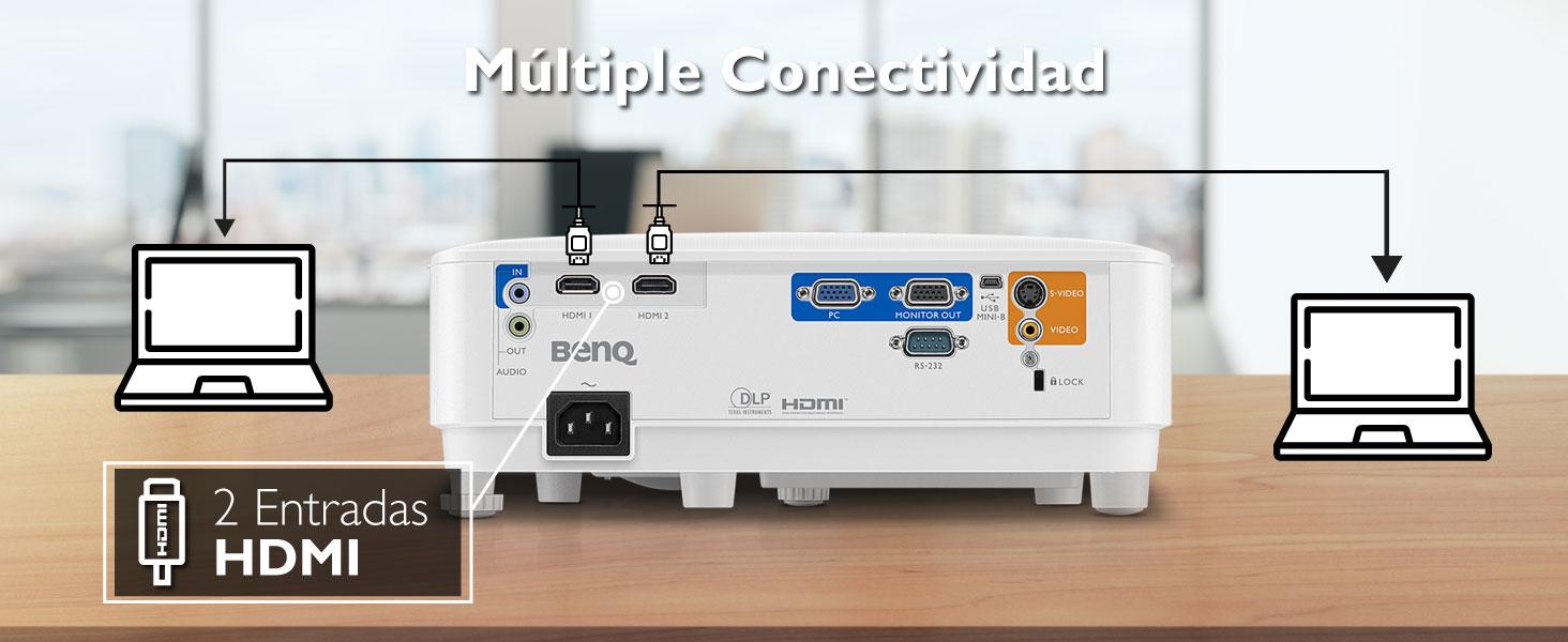 ms550; proyector; benq; svga; oficina; 3600 lumenes; dlp; hdmi; inalambrico; 15000 horas; smarteco