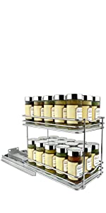 Lynk #430622DS_1 2 TIER SPICE RACK WIDE