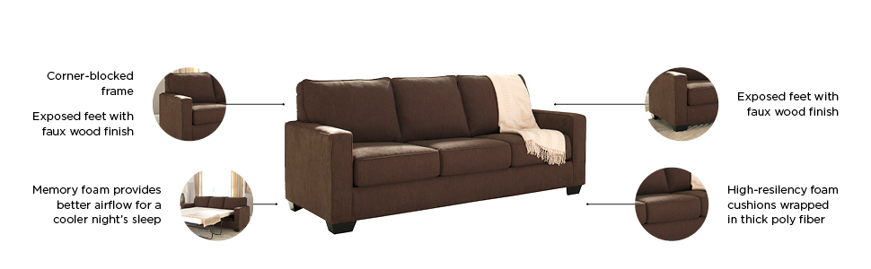 Amazon.com: Ashley Furniture Signature Design - Sofá cama ...