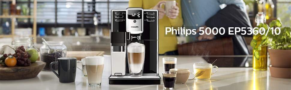 Philips Serie 5000 EP5360/10 - Cafetera Súper Automática, 6 ...