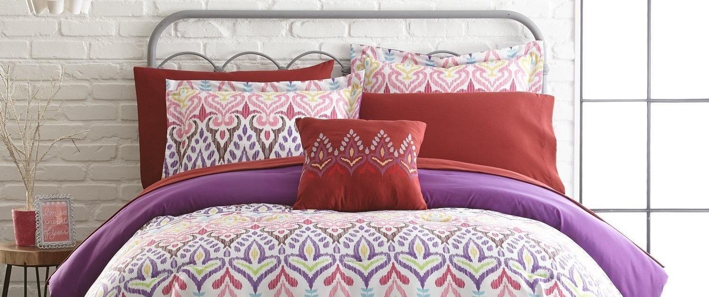 king ikat pur turk trina comforter set look purple