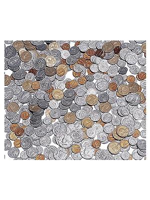 Set of 460 School Smart Assorted Plastic Coins
