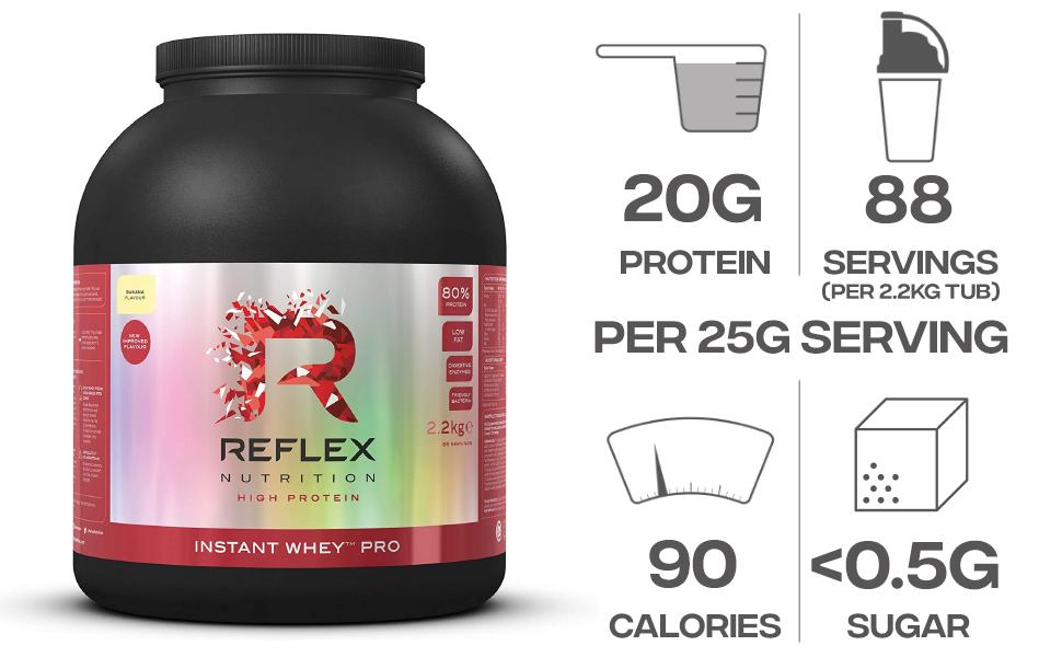 Reflex Nutrition Proteínas En Batido (80%) Reflex Instant ...