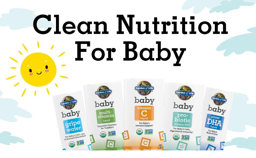 baby products organic non-gmo gluten-free healthy brain development garden of life effective trust