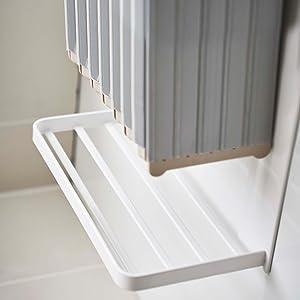 マグネットバスルーム折り畳み風呂蓋ホルダー ミスト ホワイト861 4903208048613