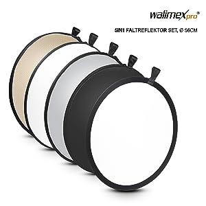 Walimex 5 In 1 Faltreflektor Set Wavy Gold Silber Weiß Kamera