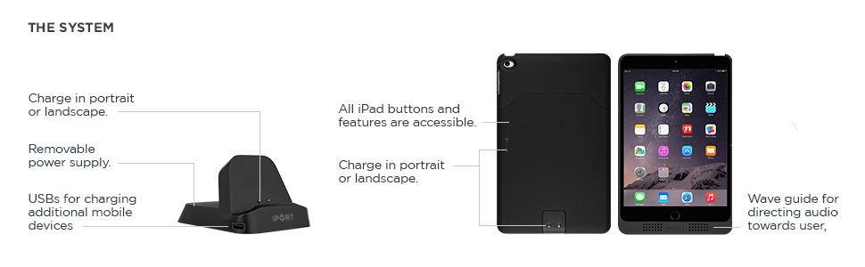 Charge Case & Stand 2, iPad mini 1, 2, 3 & 4
