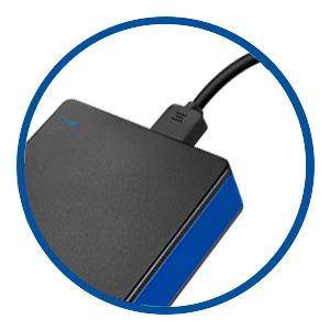 USBで電源供給