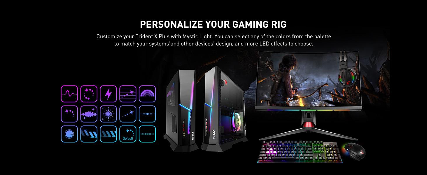Amazon.com: MSI Trident X Plus 9SE-062US High-End Small Form Factor PC  Intel Core i9-9900K RTX 2080 VENTUS 8G OC 16GB 512GB PCIe NVME SSD+2TB HDD,  Black: Computers & Accessories