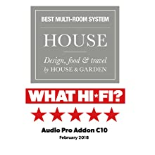 Audio Pro Addon C10 Multi-room Wireless Speaker Awards from What HiFi? and House and Garden Magazine