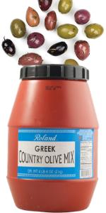 country olive mix;greek olive mix;black olives Greek;black olives kalamata;country mix olive