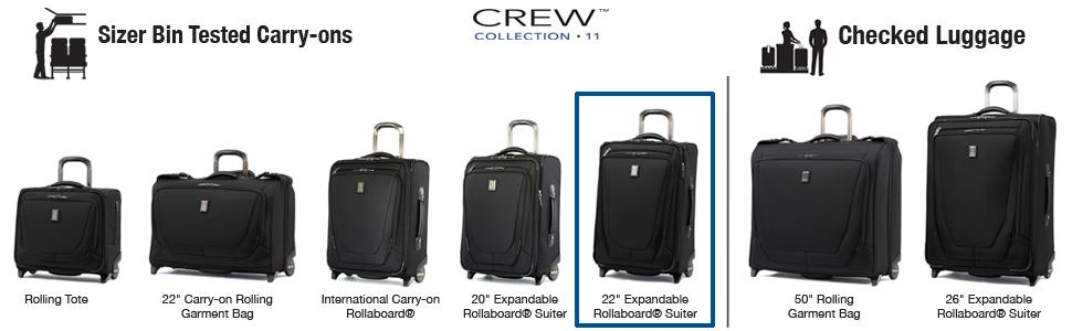 Amazon.com | Travelpro Crew 11 2 Piece Set (22