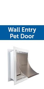 wall mount cat door; wall mount doggie door; wall mount doggy door; wall pet door; wall entry pet