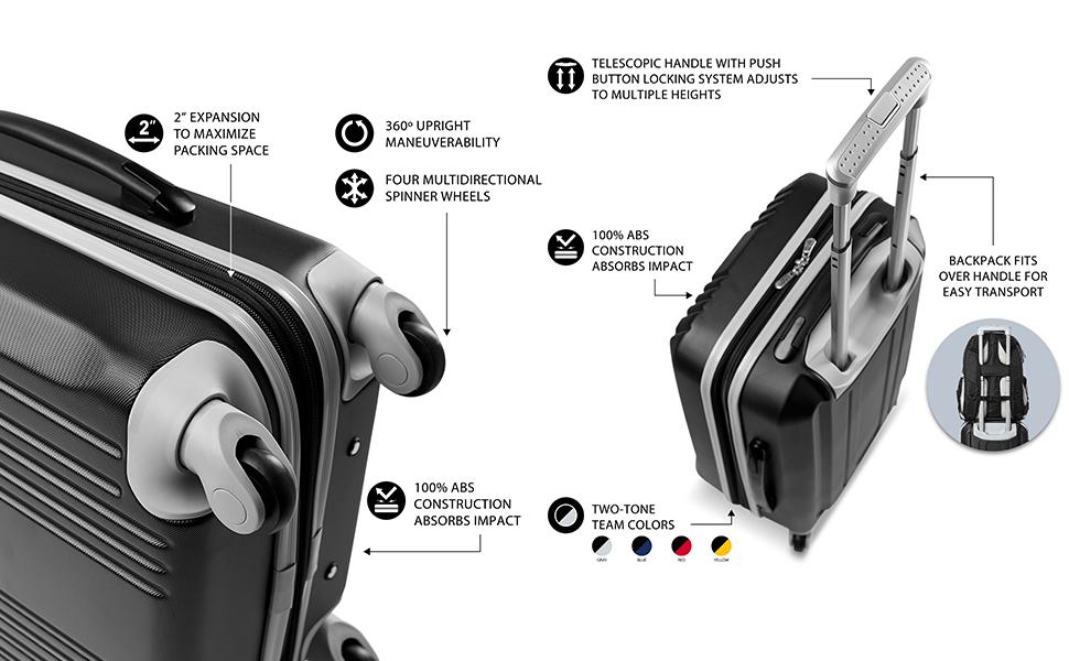 Denco-Premium-2-Piece-Luggage-Set