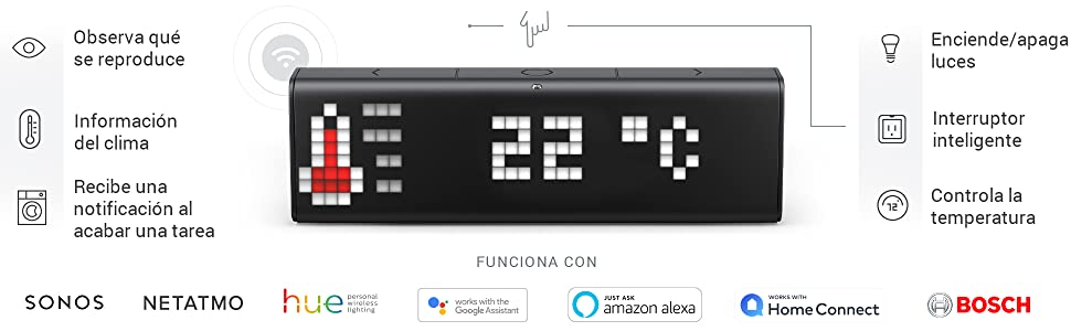 Reloj Wi-Fi de LaMetric Time para un hogar Inteligente: Amazon.es ...
