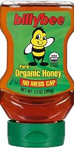 Billy Bee Pure Organic Honey Honey, 13 oz