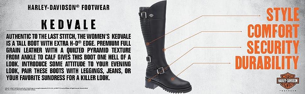 a3195a616 Harley-Davidson Women's Kedvale Work Boot, Black, 5.5 M US: Amazon ...