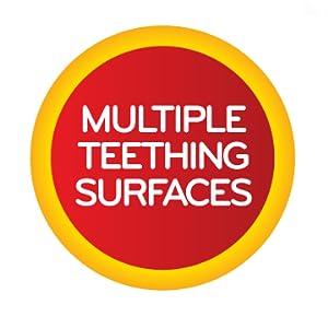multiple teething surfaces