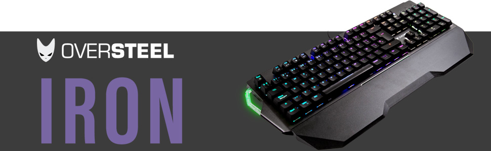 Oversteel Iron Mechanische Gaming Tastatur Rgb Red Computer Zubehör