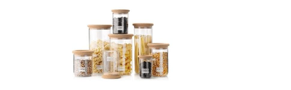 Amazoncom Bodum 8525 109 2 Yohki Storage Jar With Cork Lid 025 L