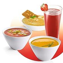 Moulinex Soup & Co LM904110 - Sopera eléctrica, recetas frías y calientes, programas automáticos, 5 velocidades + función Pulse + picar hielo, vaso de acero ...