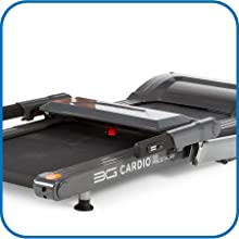"""80i Fold Flat Treadmill Folds Flat to 9.75"""" Height"""