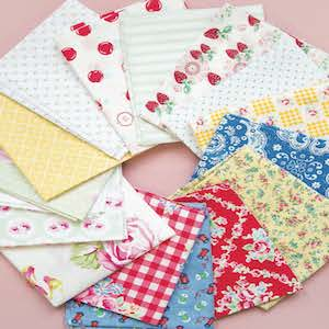 color inspiration, vintage fabric, theme fabric, fabric selection