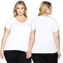 445dac5875ec7 Clementine Apparel 2 Pack Women s Plus Size Curvy Short Sleeve T ...