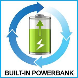 Built-In Powerbank