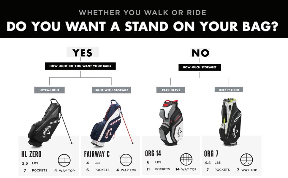org 14 golf bag callaway