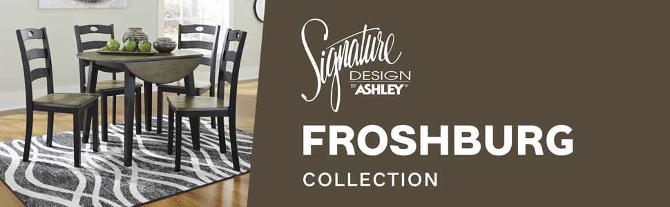 d338 froshburg collection signature design by ashley furniture chair chairs dining room table