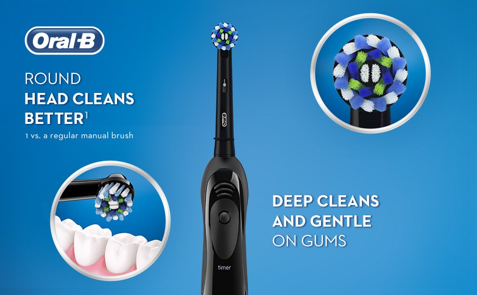 Amazon.com : Oral-B Pro-Health Clinical, Superior Clean, Battery Powered  Toothbrush, Black : Beauty