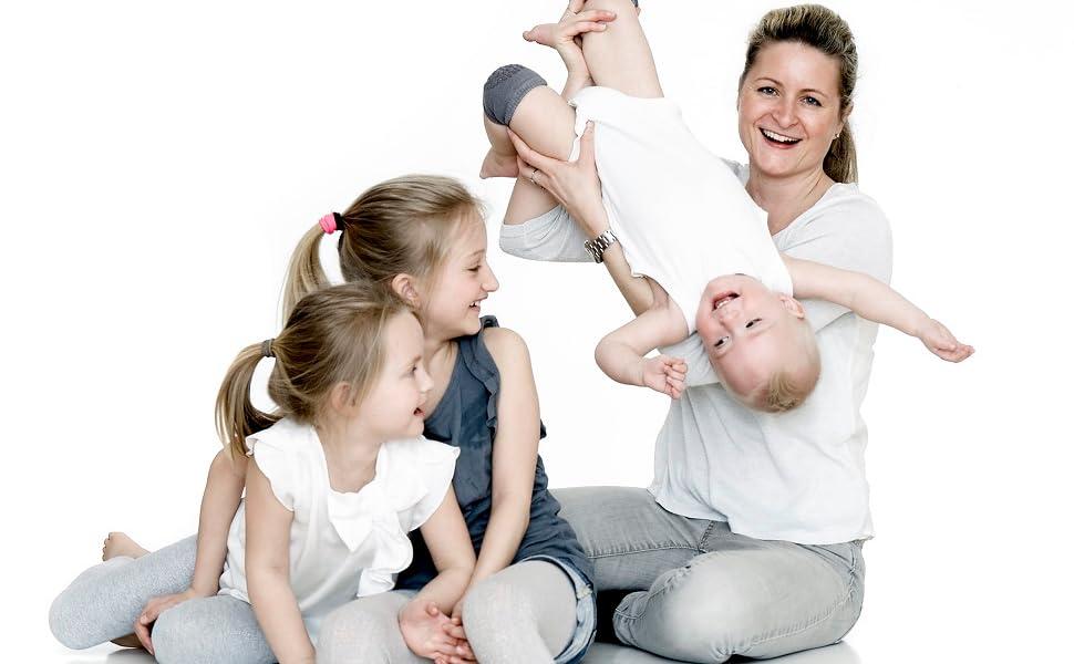 GoBabyGo Legging antid/érapant pour b/éb/é avec support antid/érapant pour enfant en coton stretch 6-12 m et 12-18 m
