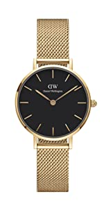 dw, daniel wellington, petite sheffield, black leather watch