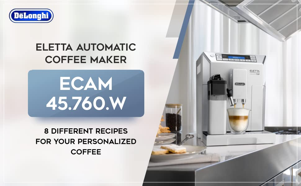 Buy De'Longhi ECAM 45.760.W/Eletta Cappuccino Top Fully Automatic
