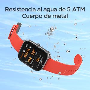 Resistencia al agua de 5 ATM