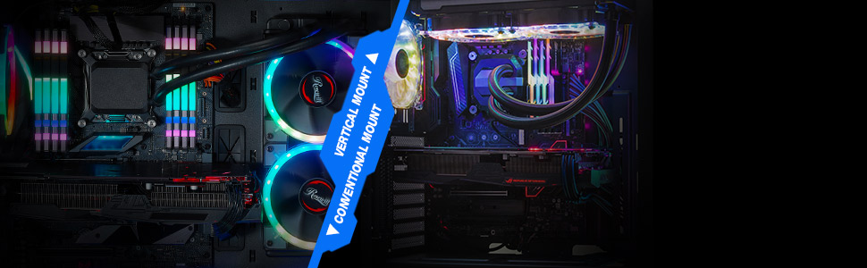 Pre-Installed RGB Fan with 10 Backlit Modes and LED Light Strip Bottom Mount PSU 240mm AIO and 320mm VGA Support Rosewill Prism M ATX Mid Tower Gaming PC Computer Case with Tempered Glass
