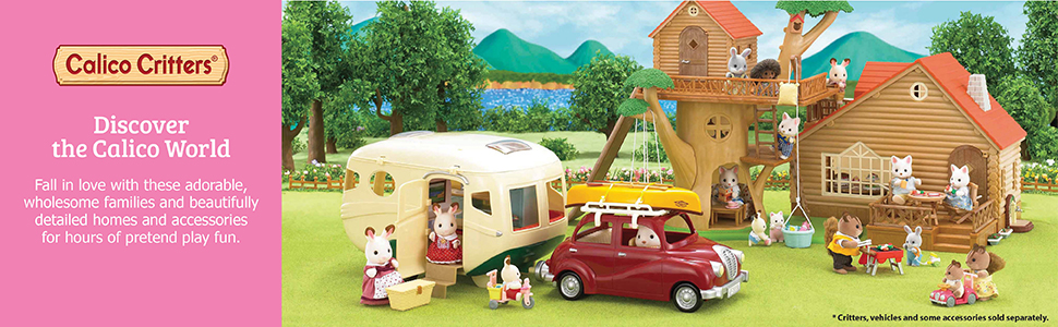 Calico Critters Sylvanian Families Tow Bar Hitch Camper Car Camper Van