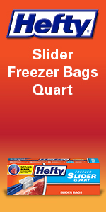 Hefty Slider Freezer Storage Bags Quart