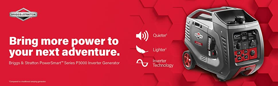 portable generator; inverter generator; camping generator; quiet generator; 3000 watt generator