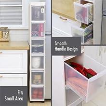 HOUZE - 4 Tier Slim Cabinet: Secured Hinge