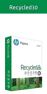copy paper, HP paper, 8.5x11, printer paper, computer paper, recycled paper, 20lb, 92 bright