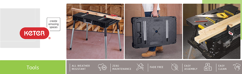 Keter tool storage products chest keter work working box work table workbench