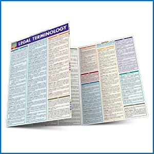 QuickStudy Quick Study Legal Terminology Laminated Study Guide BarCharts Publishing Reference Guide