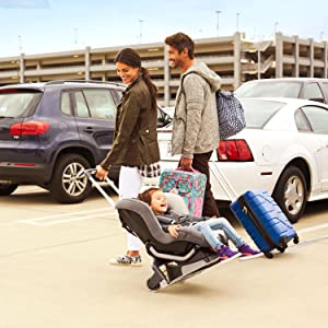 Converts Car Seat To Airport Stroller