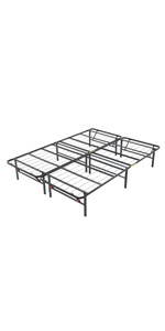 ... Hercules Heavy-Duty 14-Inch Platform Metal Bed Frame | Mattress Foundation, Queen ...